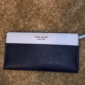 Kate spade large bifold slim wallet blue Cameron